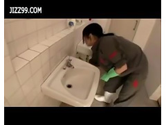 cute cleaner gives geek blowjob in lavatory 01