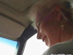 Skinny blonde milf got fucked hardly