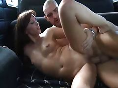 Car, Big Cock, Big Tits, Boobs, Brunette, Car