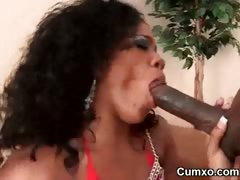 Afro Slut Fucked In Cunt And Ass Licked porn video