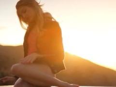 Sunset in Malibu in art masturbate movie