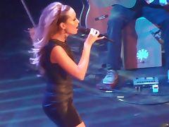 Mandy Caprsito Hurricane LIVE very sexy