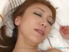 Skinny Milf Fingered By Guy Giving Blowjob Fucked On The Bed porn video