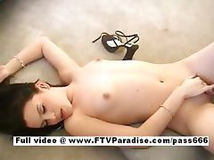 Carmela amazing naked brunette slut on the floor
