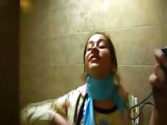 Petite Natasha coed naked at toilet
