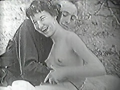 1950, Babe, Blowjob, Brunette, Classic, Hairy