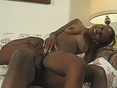 Ebony Teen Babe is Being Fooled by a Guy who Thought just to Fuck Her Hairy Cunt and Feed Her with a Fresh Sperm porn video