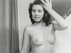 Nude Brunette Teases with Perfect Body 1950 porn video