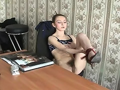 Russian, Hairy, Masturbation, Russian, Hairy Armpits, Russian Teen