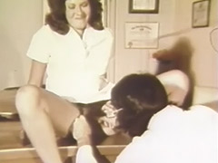 Hairy Woman Fucked by the Doctor in Hospital 1970 porn video