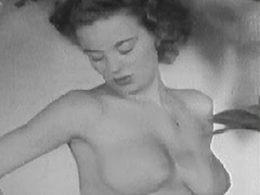 Nude Busty Girl Similar to Marilyn Monroe 1950