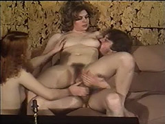 Hairy Swedish Girls in Threesome Sex 1970