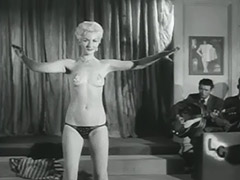 Seductive Blonde Performs a Striptease 1950 porn video