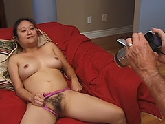 Asian Hairy Pussy Girl Performs on a Hardcore Fucking Video Featuring an Old Man porn video