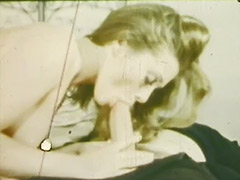 Sailor's Girlfriend Deepthroat Mouth Cumshot 1960