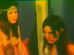 Sexy Girls in a Twist of Lesbian Love 1970 porn video