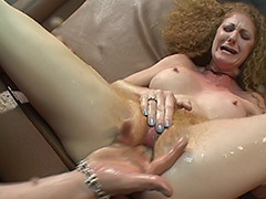 Supernatural Hairy Pussy Squirts for a Good Licking and Awesome Fucking porn video