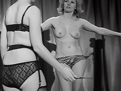 Femdom Whips and Loves Her Female Slave 1960 porn video