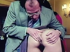 Girl being Teached real Anal Sex 1960 porn video