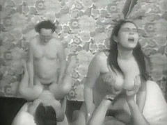Nasty Anal Swinger Foursome 1960 porn video