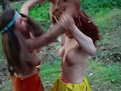 Kinky Chicks Fight and Tease Each Other 1960 porn video