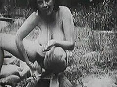 Old fashioned Group Sex Outdoors 1950 porn video
