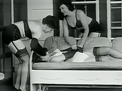 Perverted Abductors Kidnapped a Girl 1950 porn video