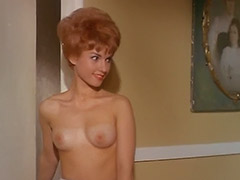 Sexy Redhead and Roommates Topless in House 1960 porn video