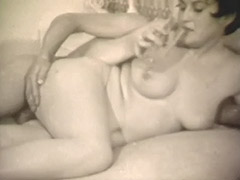 Shy Wife Getting Fucked in MMF Threesome 1960