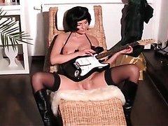 Guitar hero in the nude