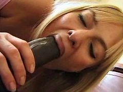 Big black sausage for her
