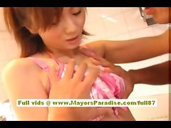 Yuma Asami asian babe does titsjob and blowjob