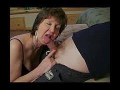 Mature Slut Sucks Neighbors Cock Mature slut has a thing for her neighbor in this private xxx video