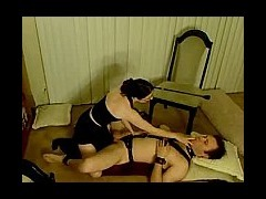 Cock Teaser Watch this mistress tease her man's cock to death with every stroke she makes he gets ho