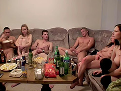 College orgy with lots of booze