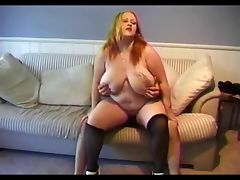 Plump Big Titted Rain Gets Her Hairy Twat Reamed