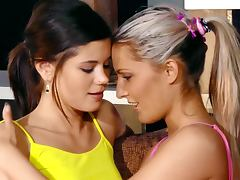 Beautiful Caprice gets her tight pussy licked by blonde girl