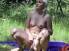 Golden Shower, Amateur, Blonde, Boobs, Natural, Outdoor