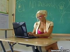 redhead guy's dream came true he fucked his hot blonde teacher