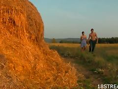 Nice Teen and Naughty College Dude On A Farm