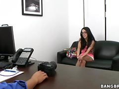 Teeny Girl Blowjob and Hardcore Fucking Audition
