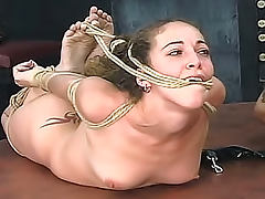 Hogtied sluts in the BDSM dungeon
