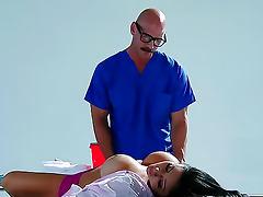 Doctor fucks his busty pornstar patient