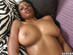 Sexy Big Tits Ebony Slut Interracial Fucking Action