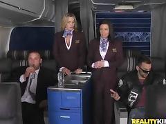 Stewardess, Anal, Ass, Babe, Big Cock, Blowjob