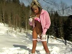 Snow, Cunt, Juicy, Legs, Masturbation, Panties