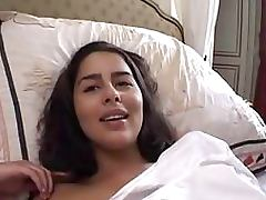 Kinky Brunette French Teen Gets Her Round Ass Fucked Hard