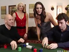 Poker Match Leads To a Swingers Foursome With Big Tits and Big Dicks porn video
