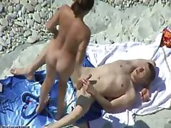 Brunette Slut Sucks Cock With Delight and Then Gets Fucked on a Beach porn video