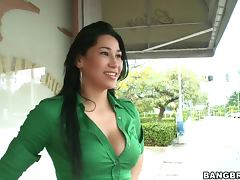 Big Tits Slut Tatiana's Tall Friend Blowjob